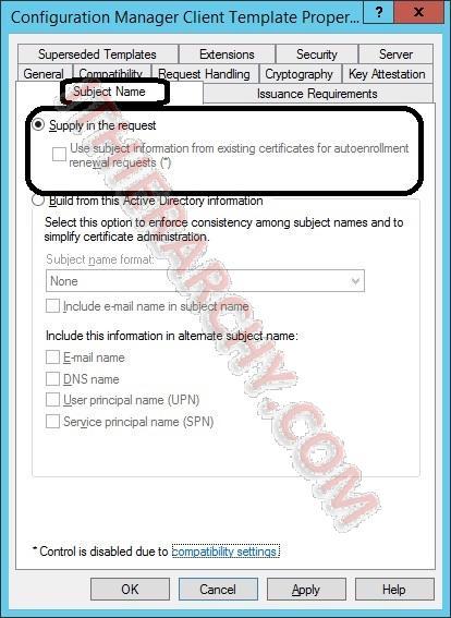 Sccm 2012 client authentication certificate templates click ok and close the certificate templates console yadclub Images